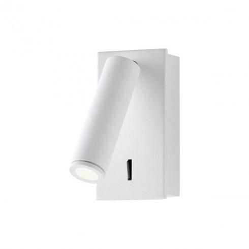 ROD LED fali lámpa, matt fehér, 10511