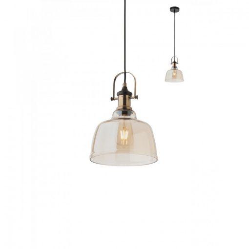 LARRY vintage függő lámpa bézs üveggel