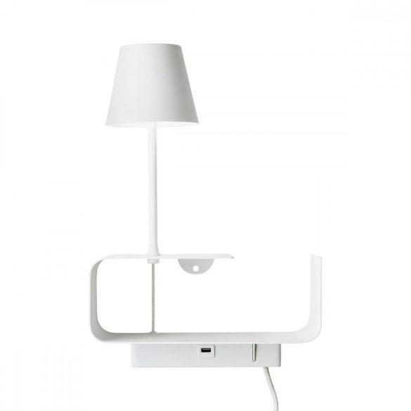 DONG LED fali lámpa USB aljzattal, fehér