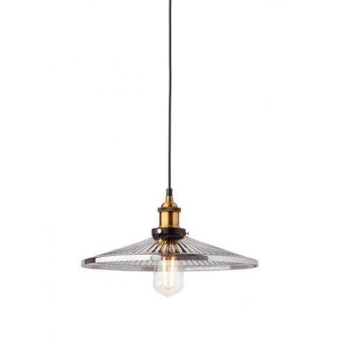 ASTOR vintage függő lámpa, fekete/ antik bronz, 1xE27