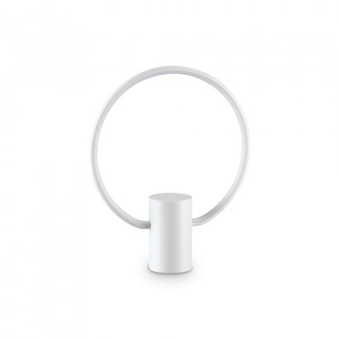 CERCHIO LED asztali lámpa, modern, fehér színű