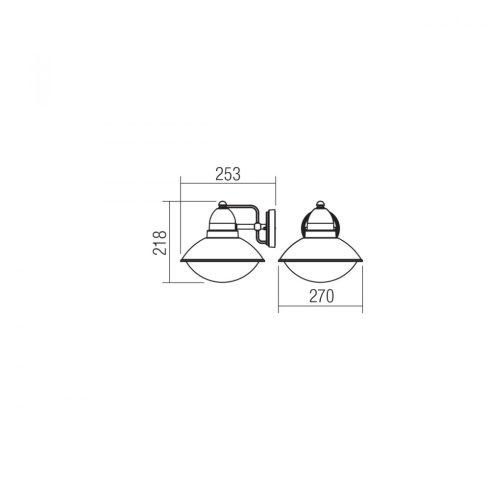 DANUBIA kültéri fali lámpa, sötétszürke