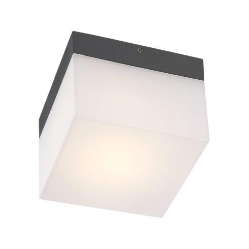 Cube kültéri LED mennyezeti lámpa, sötétszűrke 10079