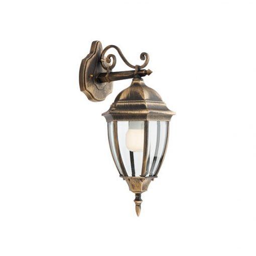 Sevilla kültéri fali lámpa, fekete/antik bronz 10455