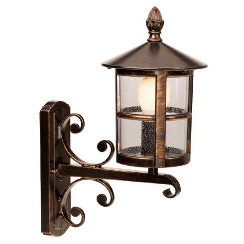 Bari kültéri fali lámpa, fekete rozsdapatina 10342