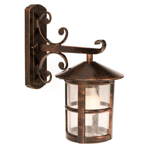 Bari kültéri fali lámpa, fekete rozsdapatina 10341