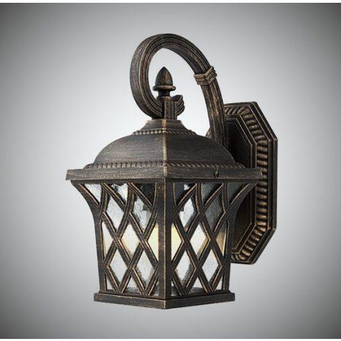 Bremen kültéri fali lámpa, barna/arany 10356