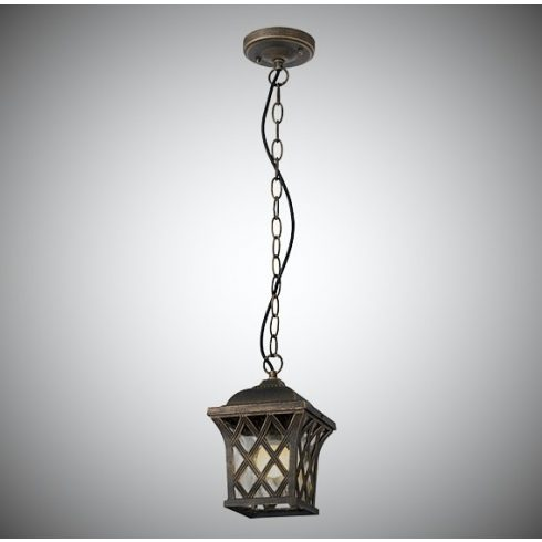 Bremen kültéri függő lámpa, barna/arany 10360